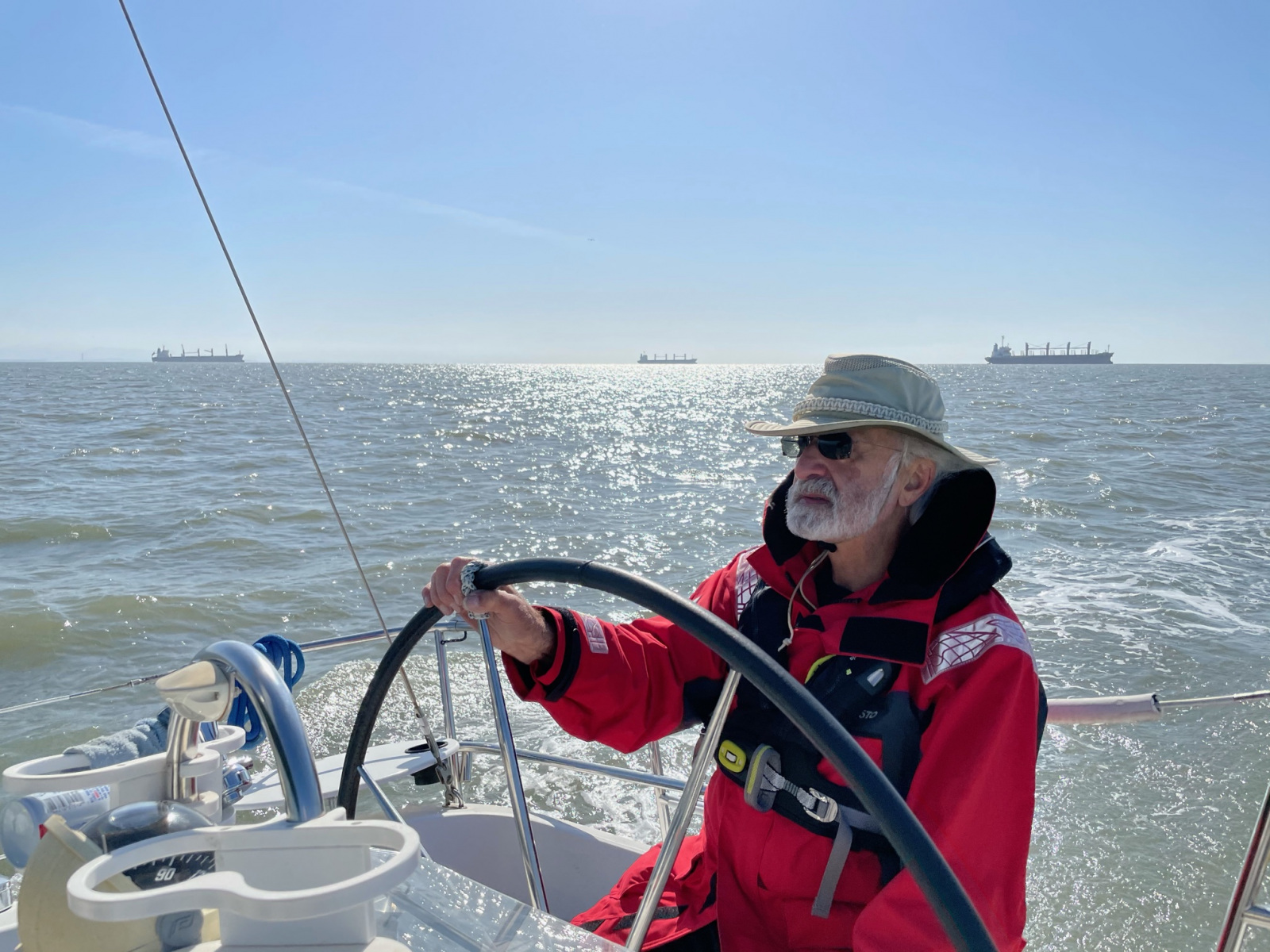 Harry-Mathias-Anne-Morkill-and-Daisy-from-aboard-the-Egret-our-Beneteau-Oceanus-361-4