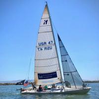 Jorge-Morales-Pantera-Pantera-my-Ron-Holland-designed-11-Meter-OD-cruising-the-Estuary