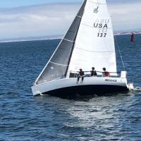 Maverick-J80-prepping-for-next-PHRF-on-Monterey-Bay-at-Mike-buoy-Mitch-Matthews