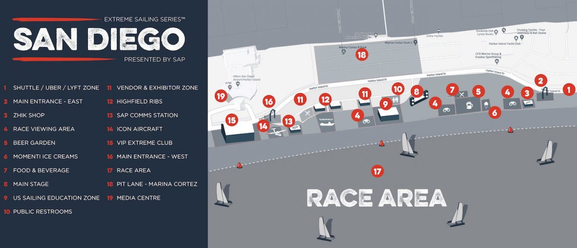 Map of race village