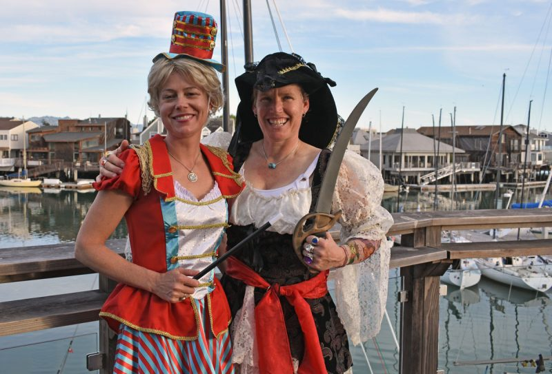 Ladies in costume