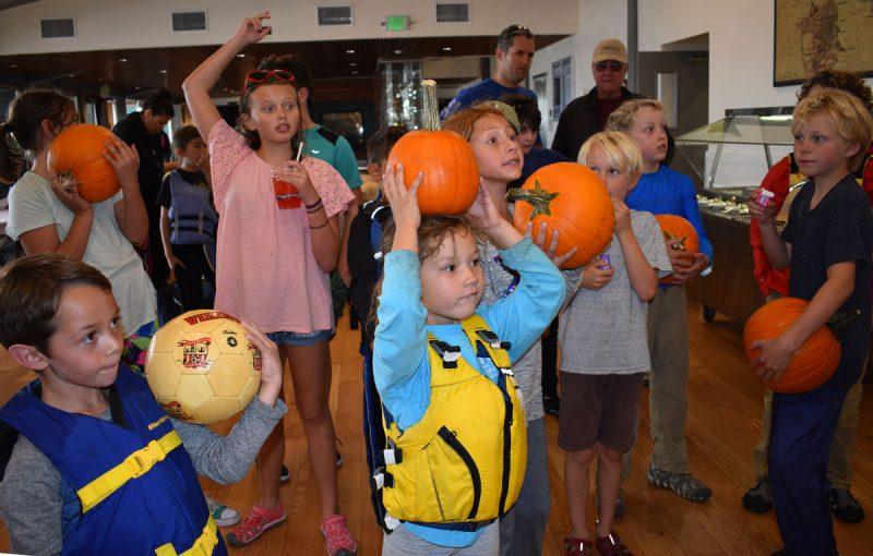 juniors with pumpkins