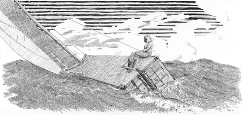 Sailing a container