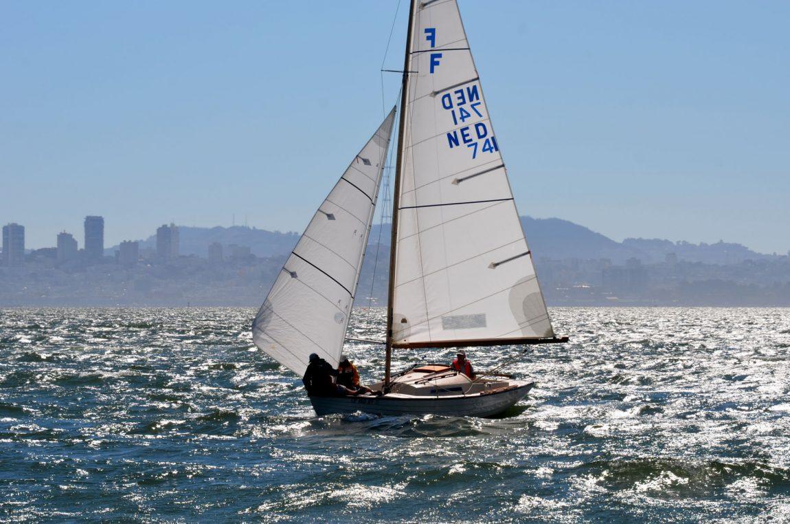 Folkboat sailing