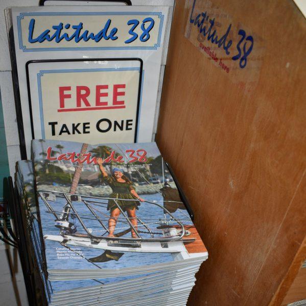 magazines in rack
