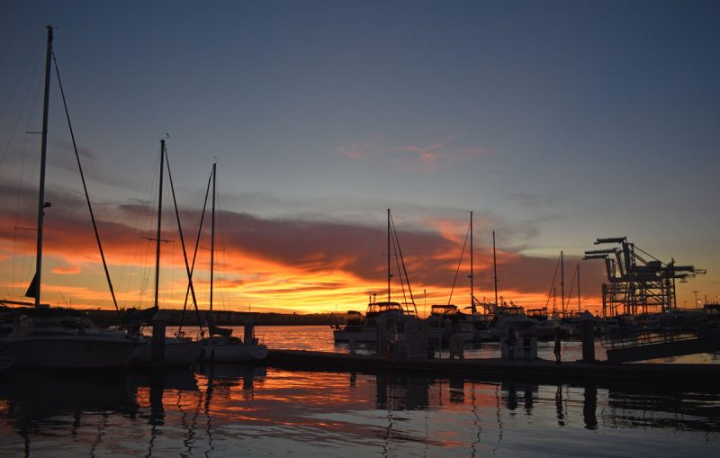 Sunset from Jack London Square