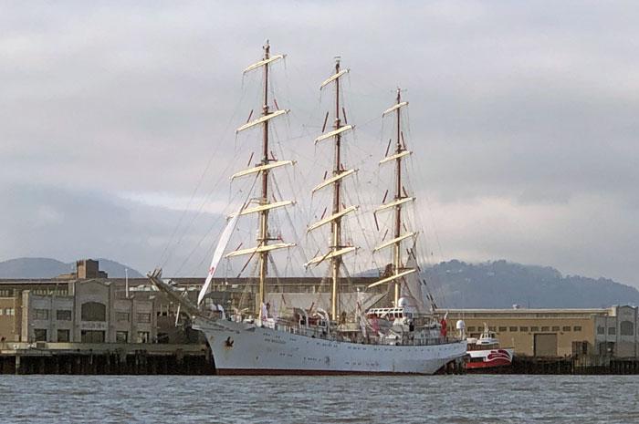 Polish tall ship at the Embarcadero