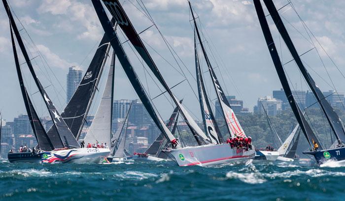 Maxi yacht start