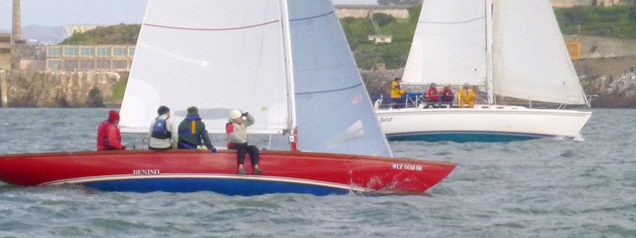 Benino and Spirit sailing