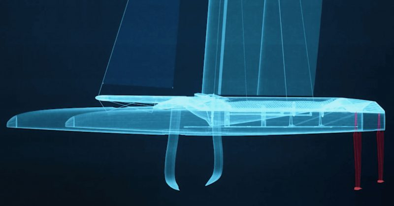 SailGP F50 rendering