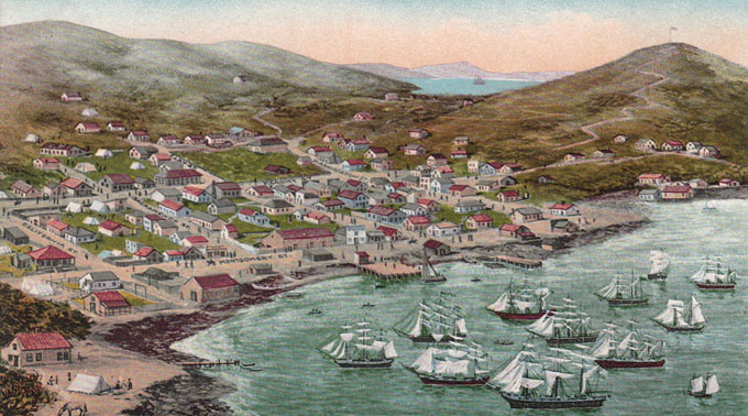 Painting of SF in 1849