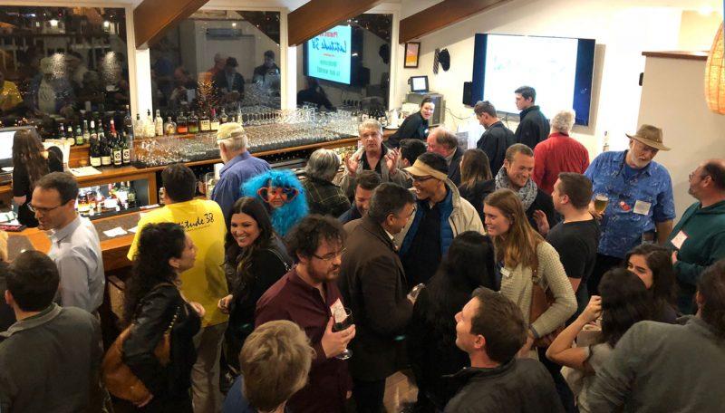 Crowd at the bar