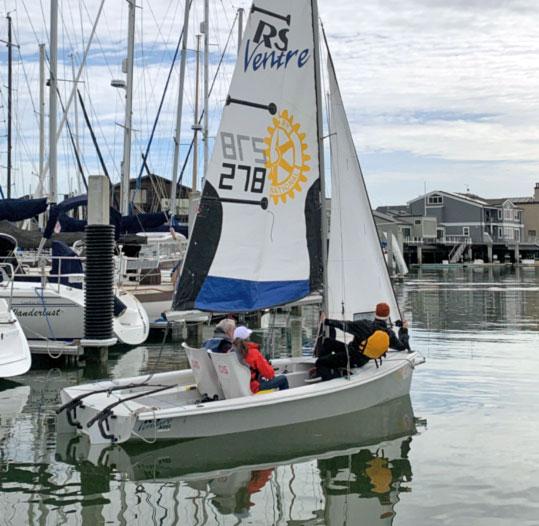RS Venture sailing.