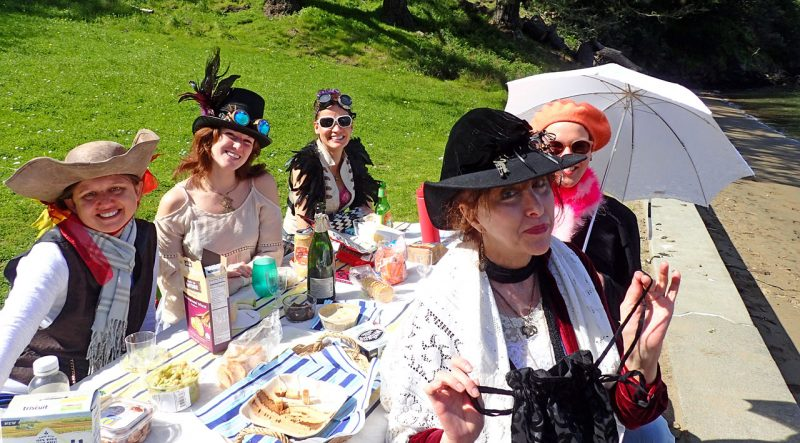 picnicking in costume