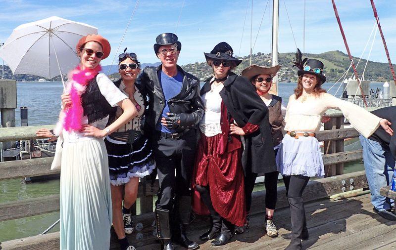 crew in Steampunk costume