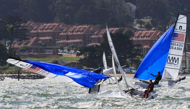 Nacra capsizing