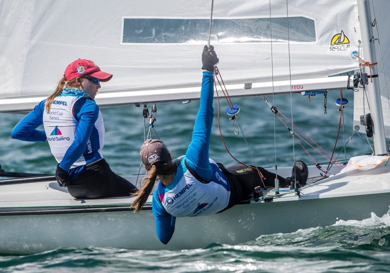 Cowles girls sailing the 470