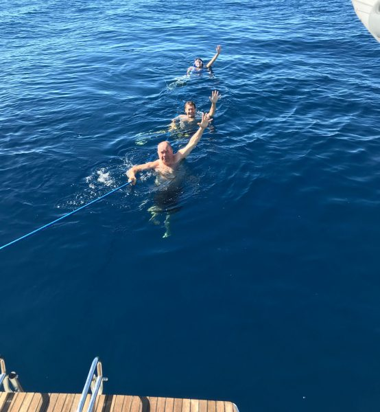 Swimming of the Malolo
