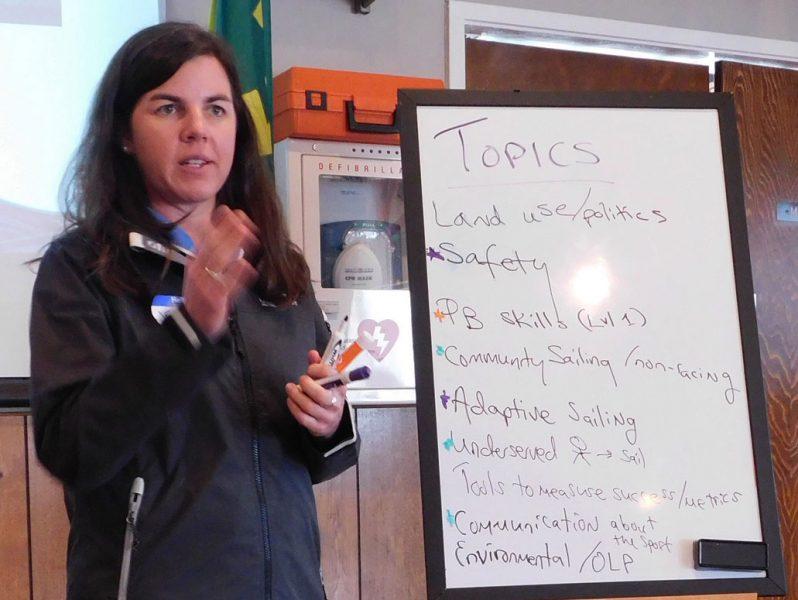 Jen Guimaraes leading discussion