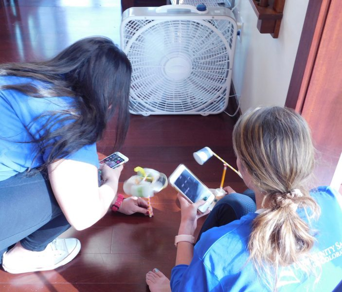 Kids conducting science experiment