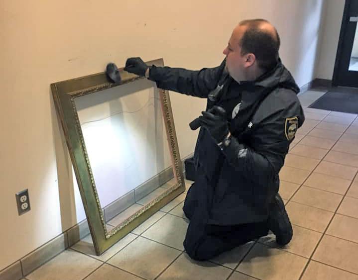 Officer printing frame