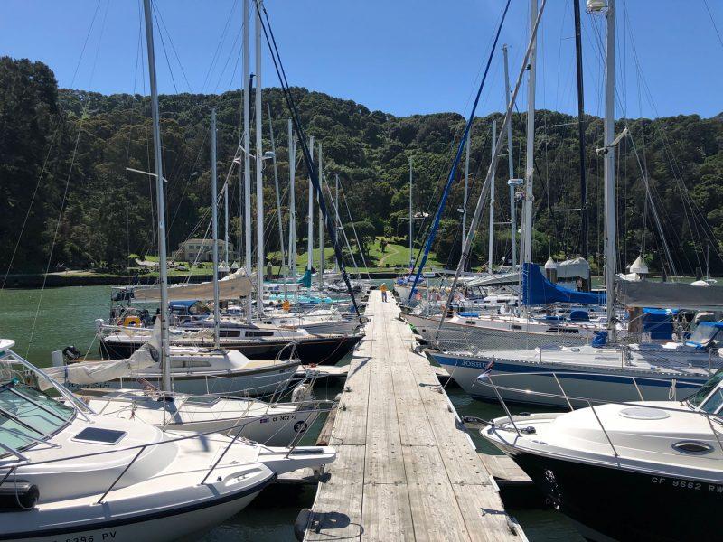 Full docks at Angel Island