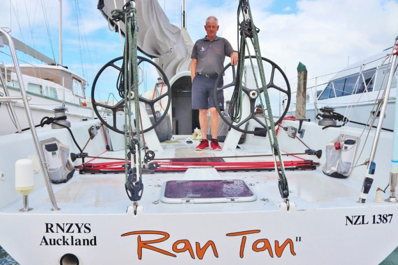 Brian Peterson aboard Ran Tan II