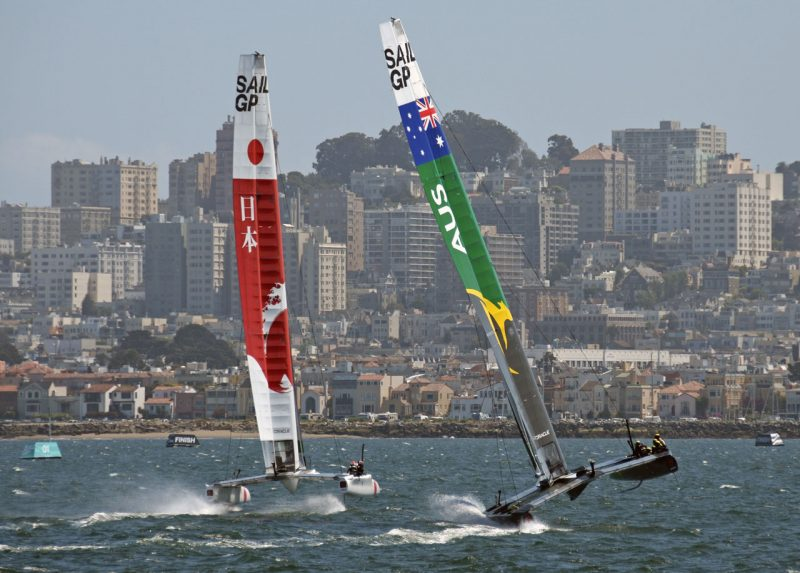 Japan and Australia SailGP boats