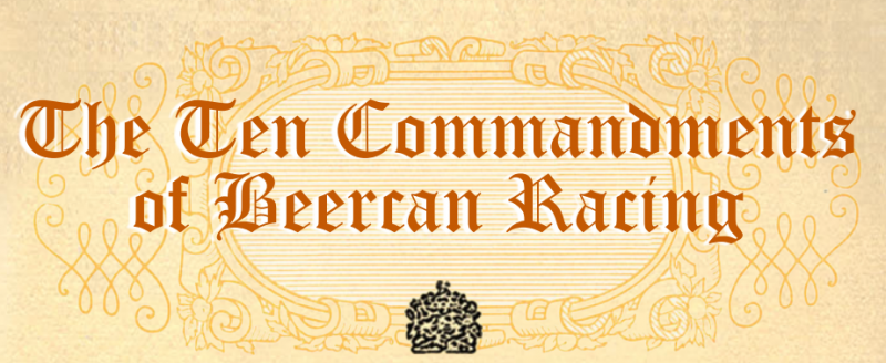 Rob Moore's Beercan Ten Commandments