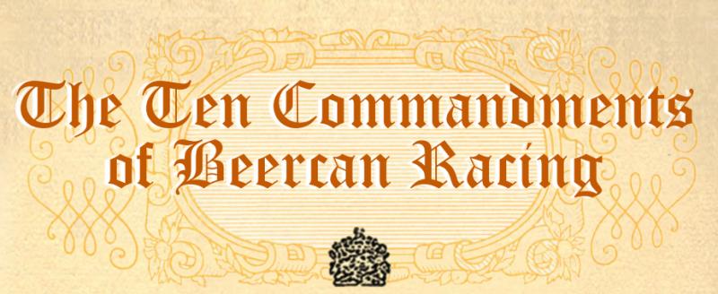 Rob Moore's Beercan Ten Commandments