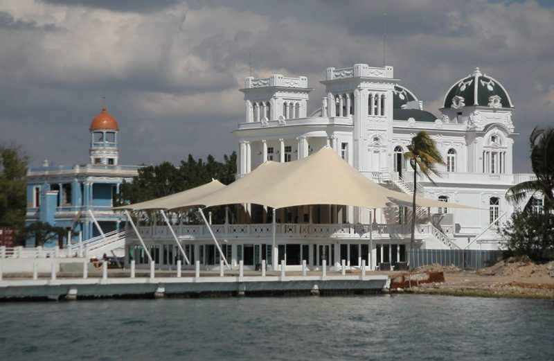 Cuban building with dock