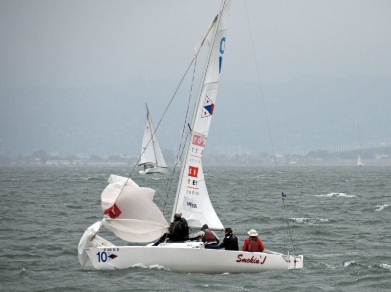 Inverness YC spinnaker torn