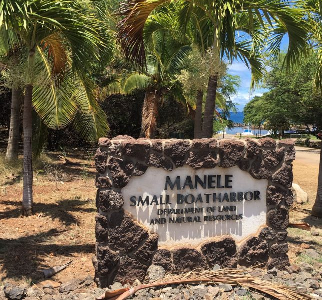 Manele Harbor sign