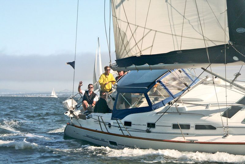 Beneteau 42 sailing