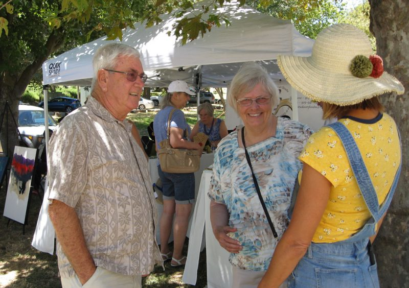 Bob and Ginger at the art show