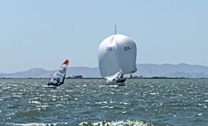 Double breasted J-24 spinnaker