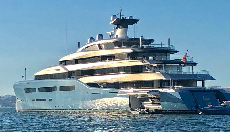 Megayacht Aviva in San Francisco