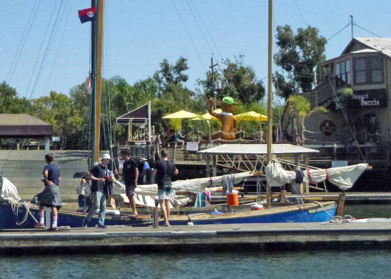 Corsair at the dock