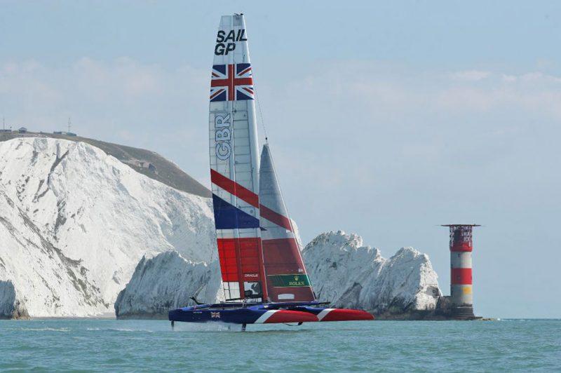 SailGP GBR at the Needles