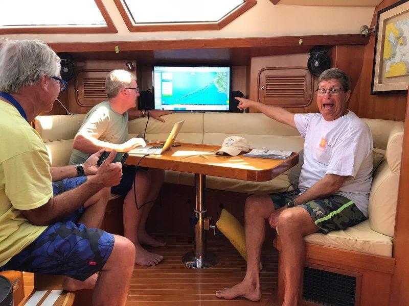 Bill Nork aboard Pakele Loa