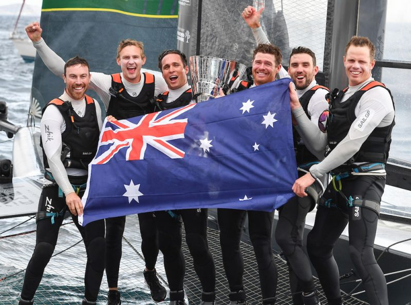 Winning team with Aus flag