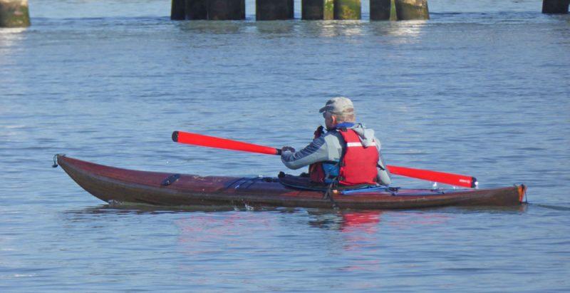 Ants Uiga in a kayak