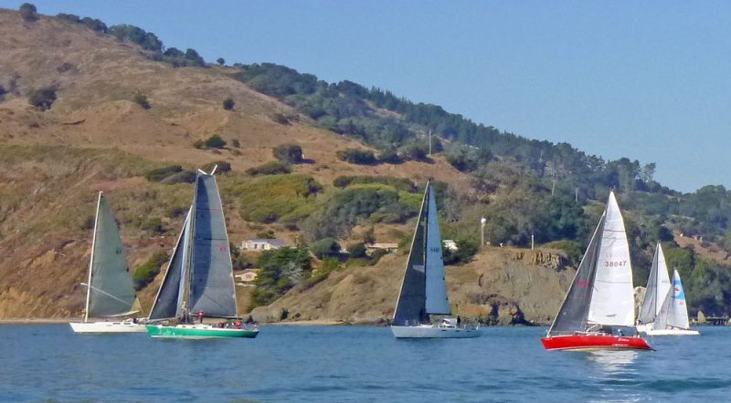 Boats adrift at Angel Island