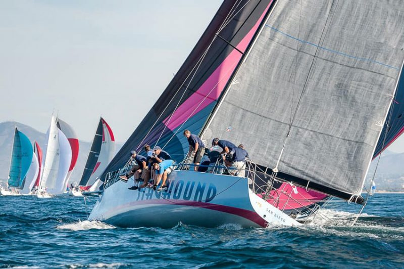 Staghound with spinnaker up
