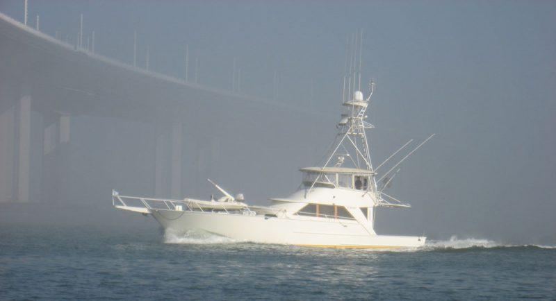 Fishing boat at new bridge