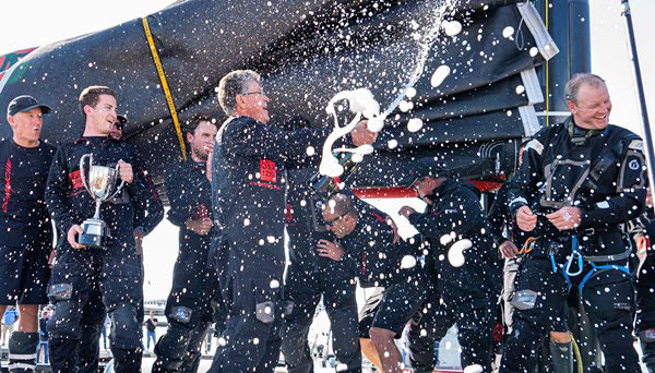 Champagne on Comanche in Hobart