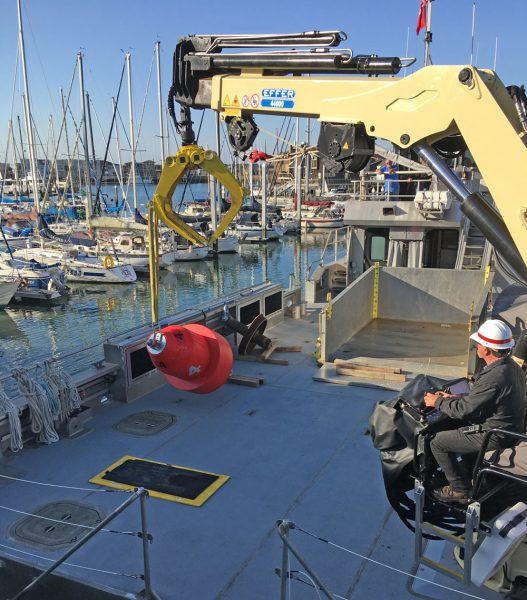 picking up the Knox buoy at Easom