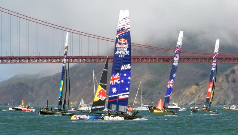 Red Bull Youth America's Cup 2013 with Golden Gate Bridge