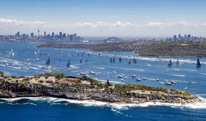 Sydney start aerial shot