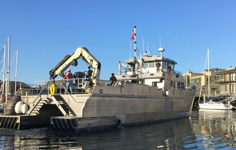 US ACE work boat